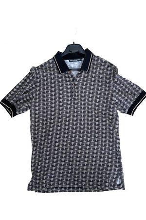 Dolce & Gabbana Grey Cotton Polo Shirts
