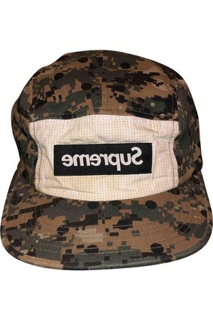 Supreme x Comme Des Garçons Khaki Cotton Hats & Pull ON Hats