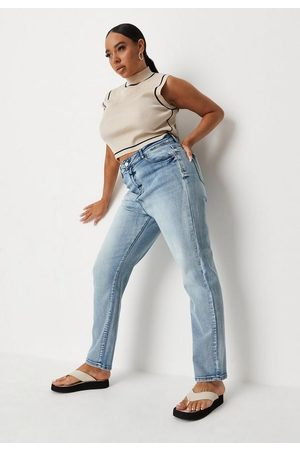 Missguided Recycled Plus Size Vintage Wash Comfort Mom Jeans