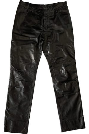 Costume National Leather Trousers