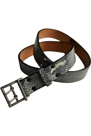 Kenzo Grey Leather Belts