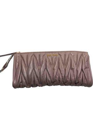 Miu Miu Leather Clutch Bags
