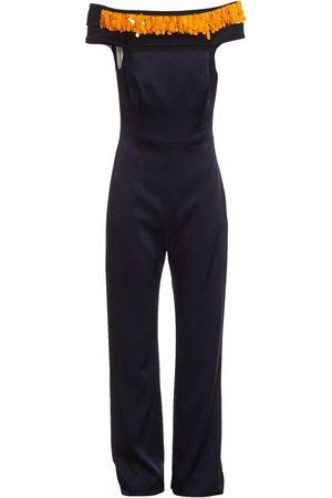 GALVAN Navy Polyester Jumpsuits
