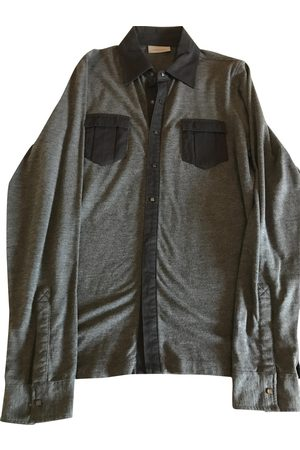 Karl Lagerfeld Grey Cotton Polo Shirts