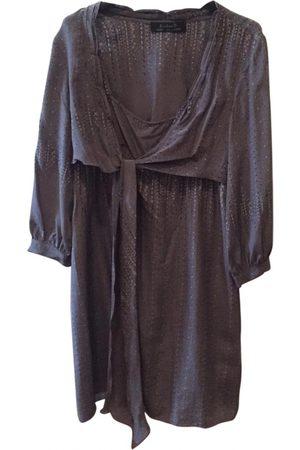 KRISTINA TI Anthracite Silk Dresses