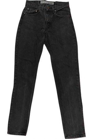 Levi's Grey Cotton Jeans