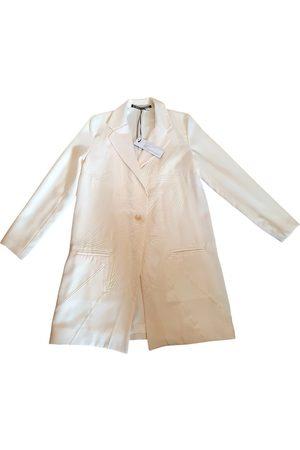 GEORGIA HARDINGE Ecru Polyester Trench Coats