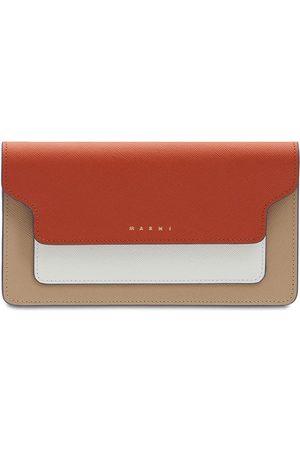 Marni Trunk Saffiano Leather Wallet Chain Bag