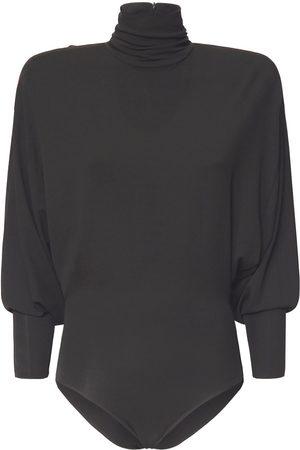 ALEXANDRE VAUTHIER Turtleneck Stretch Jersey Bodysuit