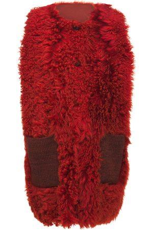 Marni Reversible Crewneck Shearling Vest