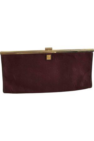 Dior Burgundy Cotton Clutch Bags