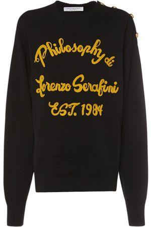 Serafini Embroidered Logo Wool Sweater