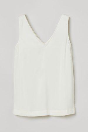 H&M V-neck Satin Top