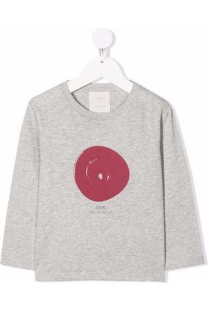 KNOT Hinomaru long-sleeved T-shirt - Grey