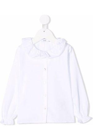 KNOT Tsumuji ruffle-collar blouse