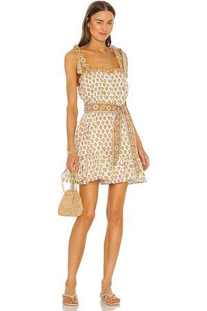 Cleobella Tillie Mini Dress in Mustard.