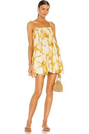 SWF X REVOLVE Shirred Pocket Mini Dress in Yellow.