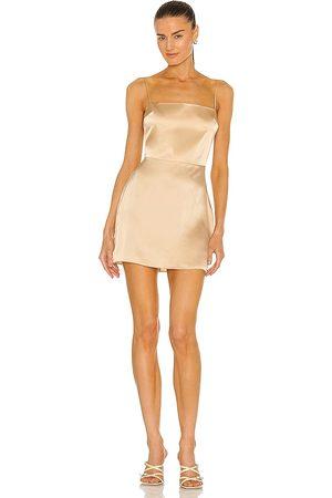 Amanda Uprichard Avani Dress in Beige.
