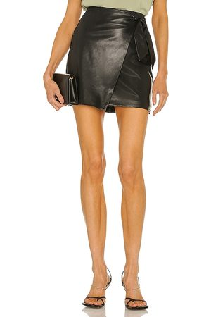 BLANK NYC Faux Leather Skirt in Black.