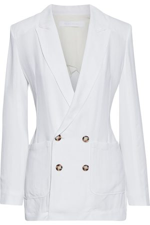 Roland Mouret Women Blazers - Woman Talbot Double-breasted Textured-crepe Blazer Size 10