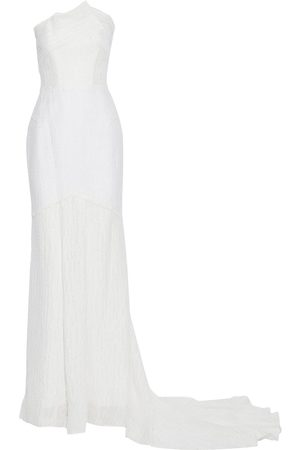 Roland Mouret Woman Turret Strapless Frayed Cloqué Gown Size 10