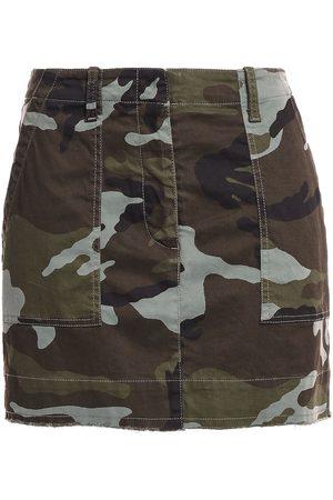 NILI LOTAN Woman Ilona Printed Stretch-cotton Twill Mini Skirt Army Size 0