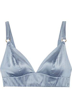 MYLA Woman Covent Garden Stretch-silk Satin Triangle Bra Light Size S