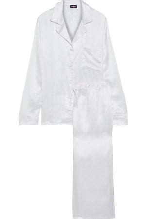 Cosabella Women Pajamas - Woman Magnolia Corded Lace-paneled Silk-satin Pajama Set Size M