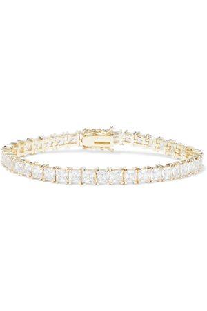 Kenneth Jay Lane Woman 18-karat -plated Crystal Bracelet Size