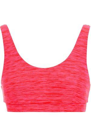 The Upside Woman Saanvi Daisy Mélange Stretch Sports Bra Fuchsia Size L