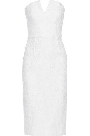 Roland Mouret Woman Aimee Strapless Frayed Cloqué Dress Size 10