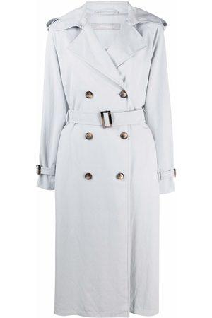 12 STOREEZ Oversized single-breasted trench coat - Grey