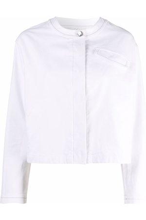 Malo Collarless denim jacket