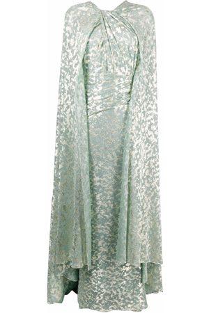TALBOT RUNHOF Women Printed Dresses - Metallic printed gown