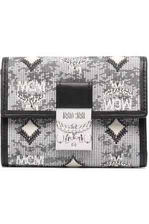 MCM Wallets - Vintage Jacquard Monogram Mini Tri-fold wallet - Grey