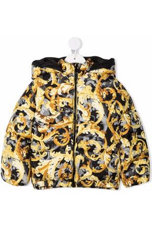 Versace Kids Puffer Jackets - Baroccoflage-print puffer jacket