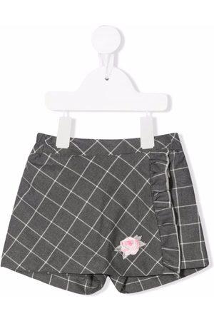 MONNALISA Checked wraparound shorts - Grey
