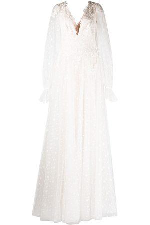 Tadashi Shoji Gretel dotted lace embroidered bridal dress