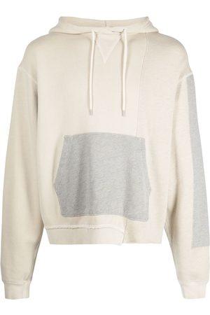 John Elliott Colour-block drawstring hoodie - Grey