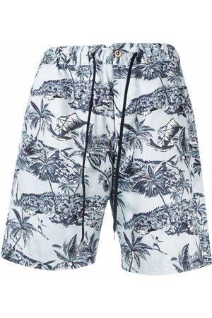 PT01 Palme tree river shorts