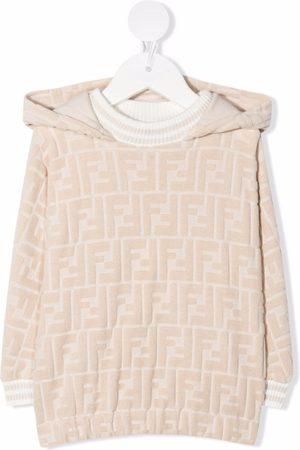 Fendi Kids FF-motif hoodie - Neutrals
