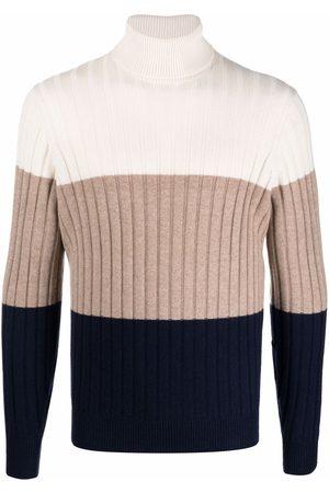 Brunello Cucinelli Ribbed colour block roll-neck jumper