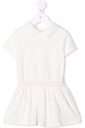 Fendi Kids FF-motif flared dress