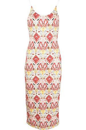 Alice+Olivia Delora fitted midi dress