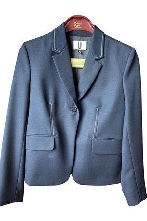 Topshop Navy Wool Jackets