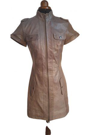 GOOSECRAFT Grey Leather Dresses