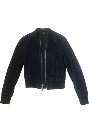 THEORY Navy Leather Leather Jackets