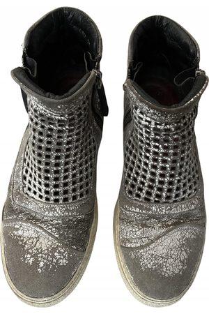 BRUNO BORDESE Grey Leather Boots