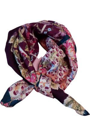 MANTERO VIII Burgundy Silk Scarves