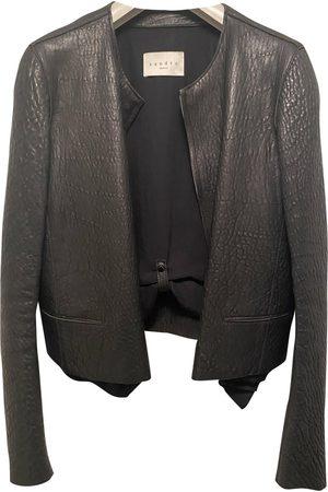 Sandro Leather Leather Jackets